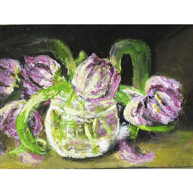 Натюрморт с тюльпанами 6